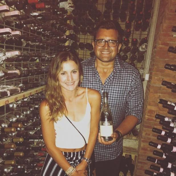 Chase Norton in Capri, Italy enjoying a bottle of Gaja Barbaresco with his wife Jenee from the cellar of Da Tonio